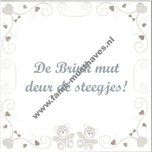 Tegel Deventer dialect: zwangerschap - De Brink mut deur de steegjes