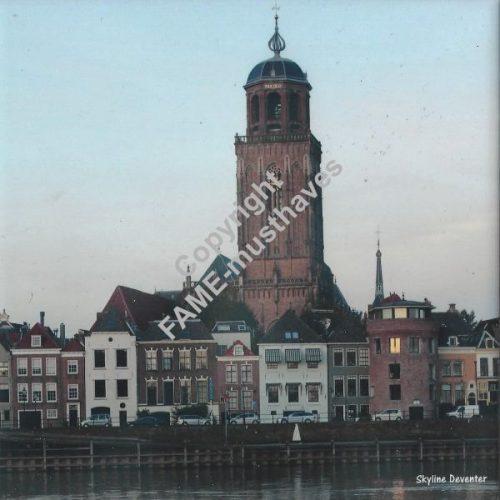 Deventer tegeltje Deventer skyline