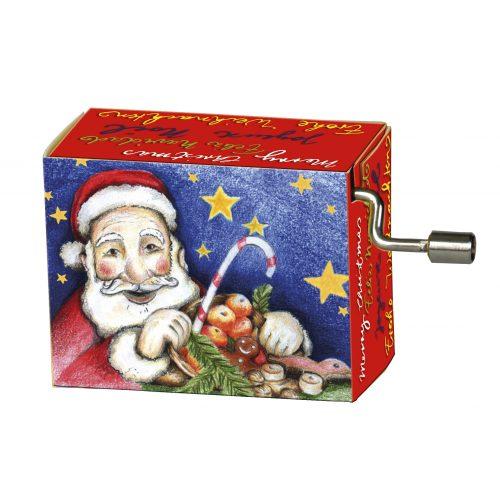Muziekdoosje kerst kerstman met melodie Jingle Bells