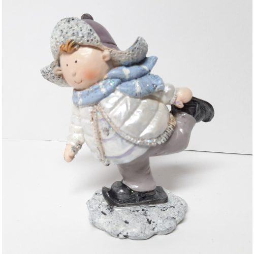 Beeldje schaatsende jongen 11.5 cm