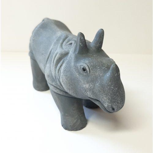 Fairtrade beeldje nijlpaard van aardewerk uit Nepal