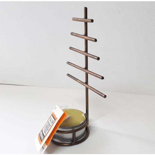 Fairtrade mini kerstboom waxinelicht houder industrieel van metaal