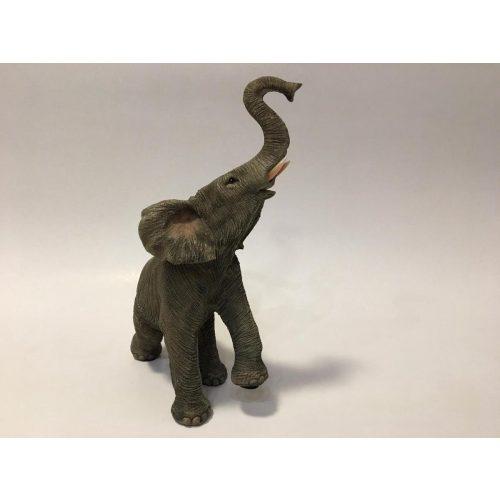 Beeldje levensechte olifant, staand op 3 poten